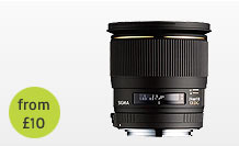 Sigma f/1.8 24mm Lens hire